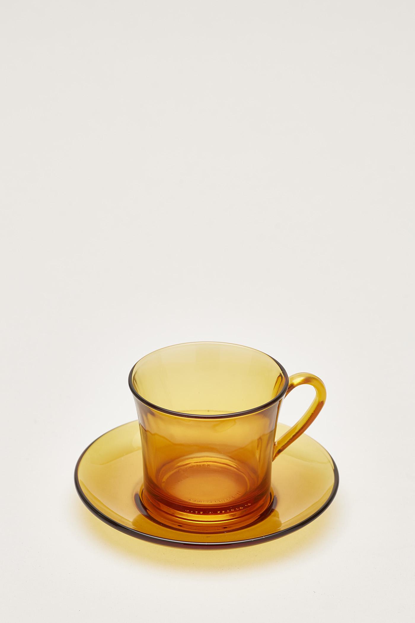 Duralex Amber Cup Set