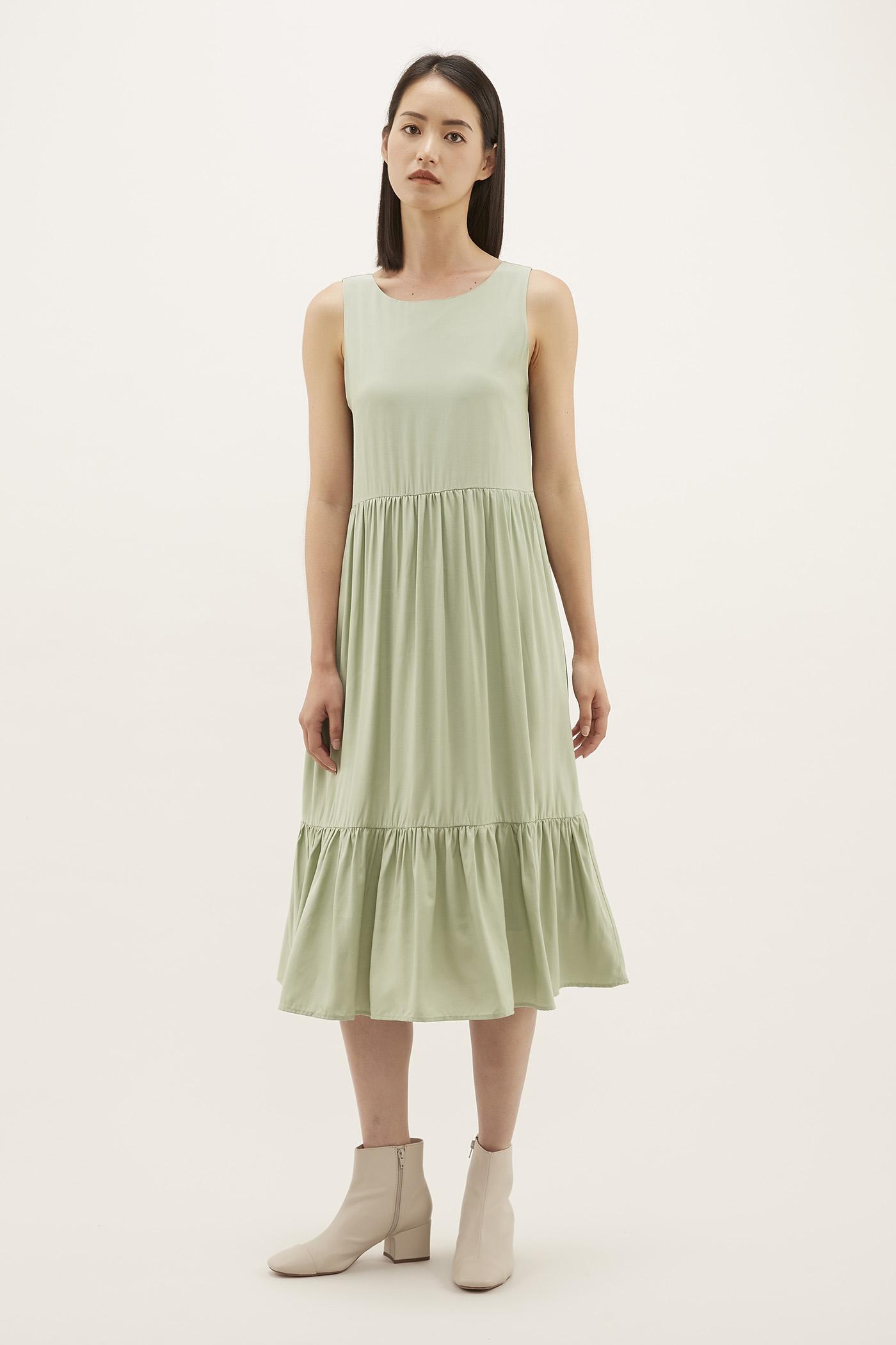 Alexsa Drop-hem Dress