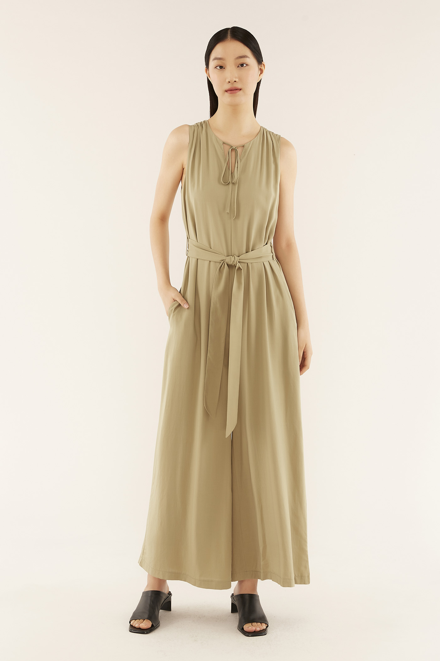Maddie Notch-neck Jumpsuit