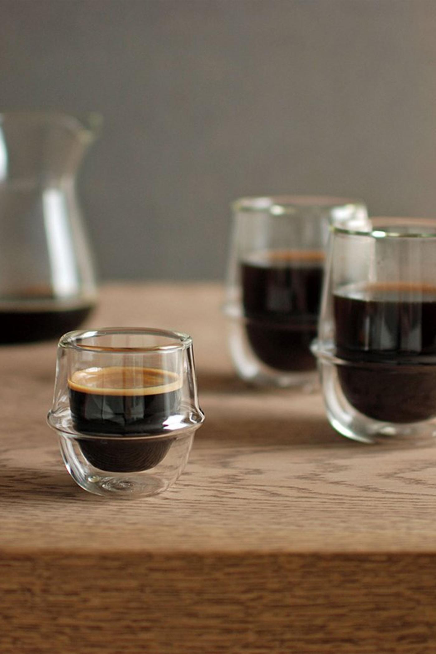 Kinto Kronos Double Wall Espresso Cup