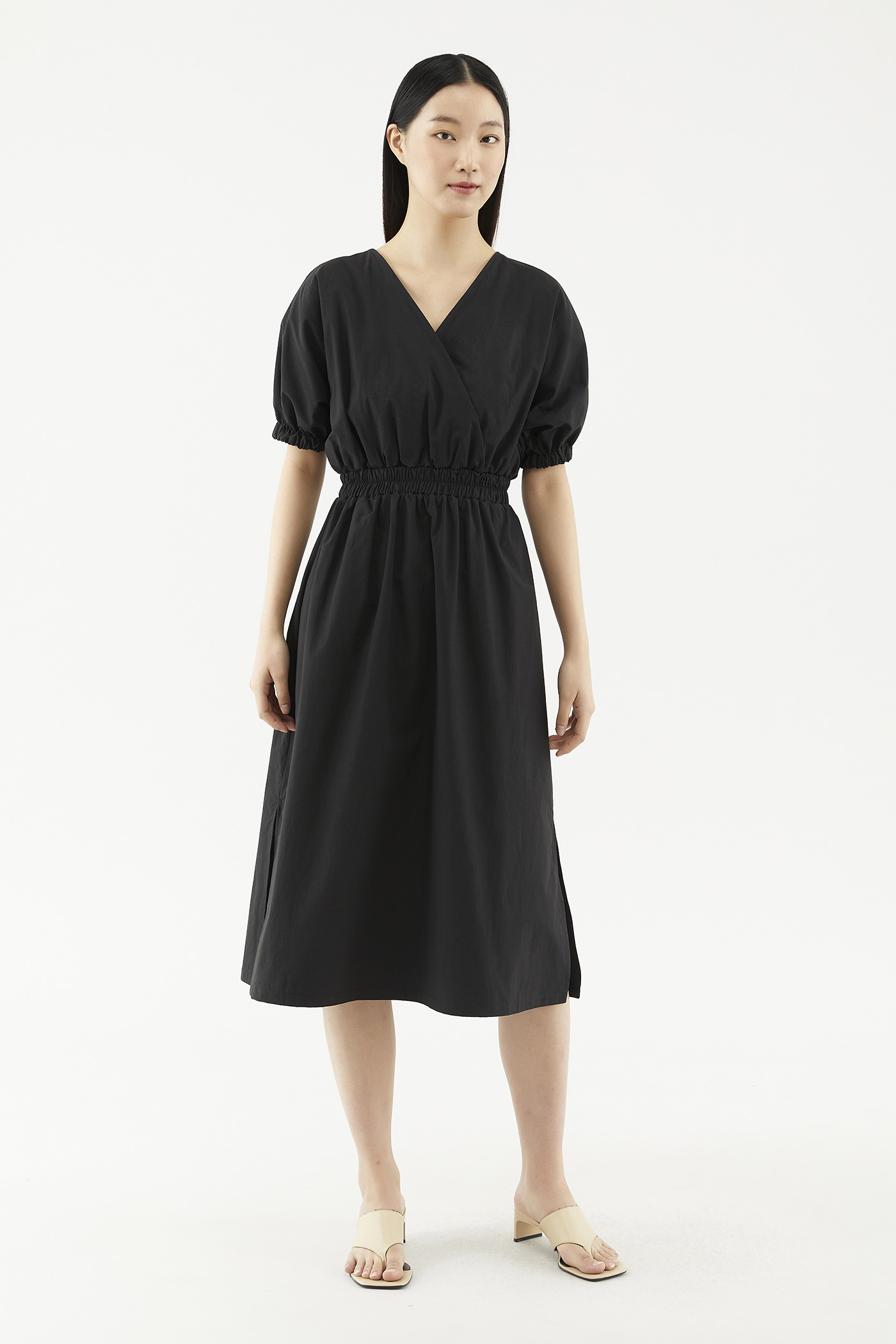 Zaleene Puff-sleeve Dress