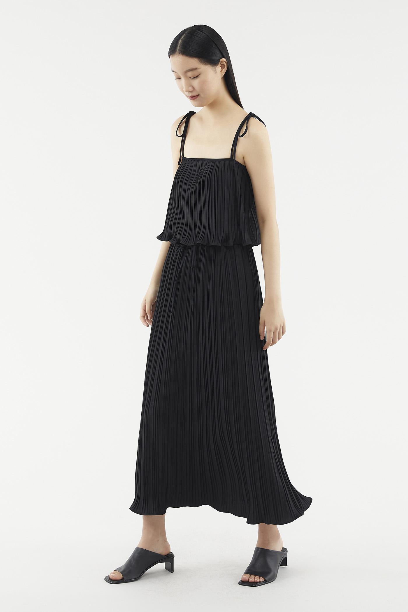 Deliza Pleat Midi Skirt