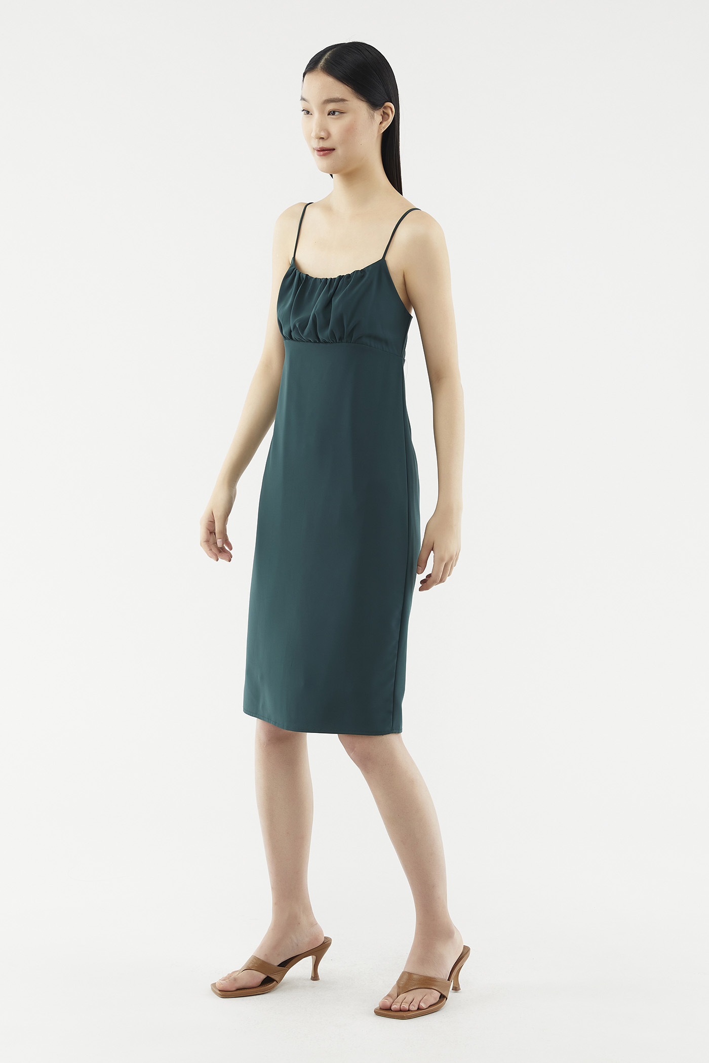 Crissa Ruched Slip Dress