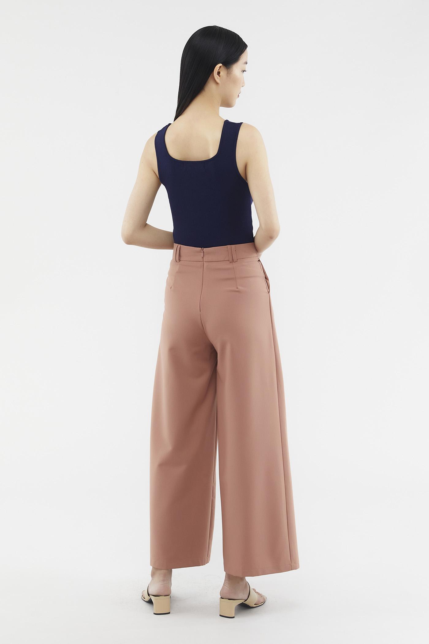 Jaynise Side-pleat Pants