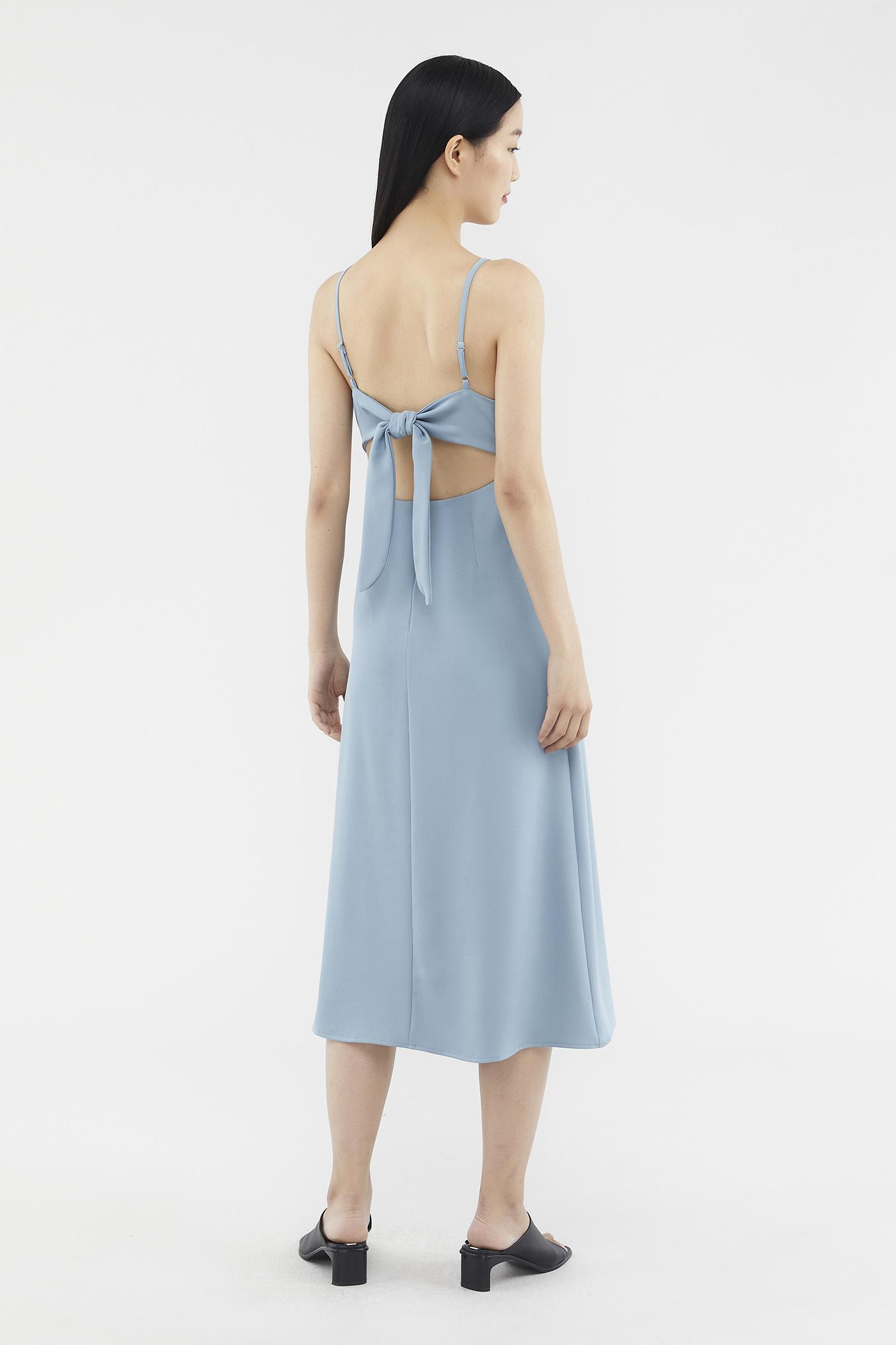Halley Back-tie Midi Dress