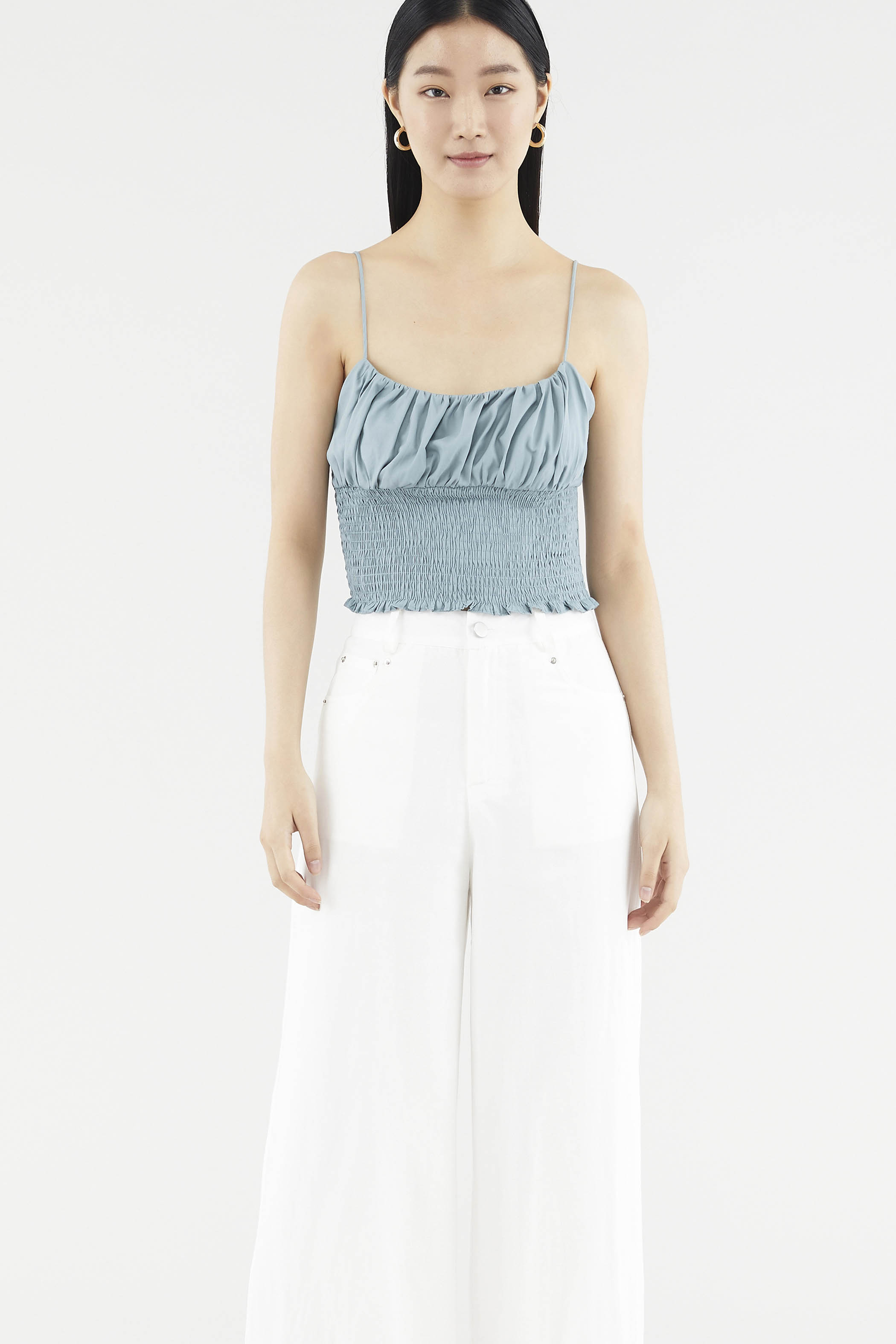 Kanny Ruched Crop Top