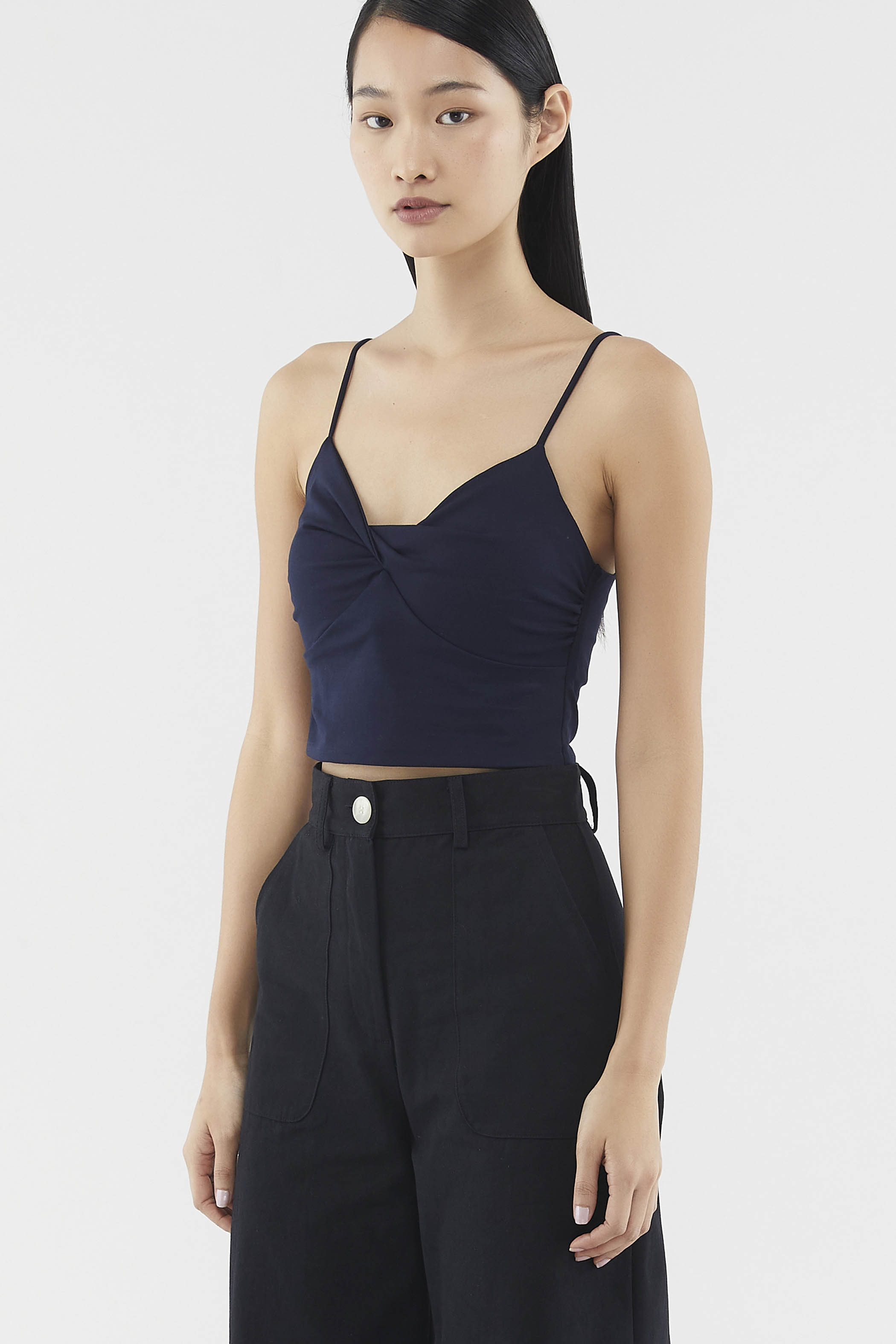 Theodora Front-twist Crop Top