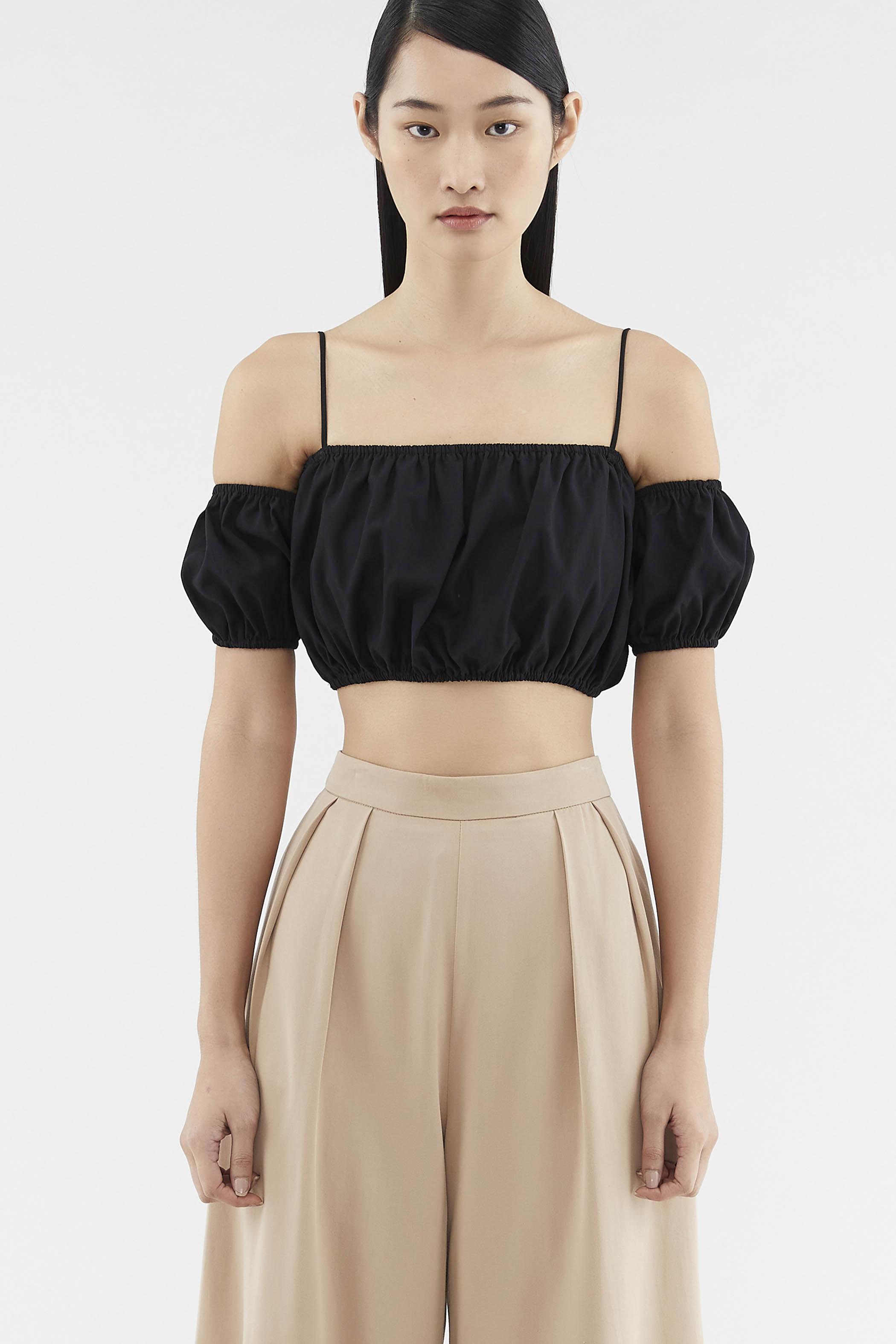Tamela Cold-shoulder Crop Top