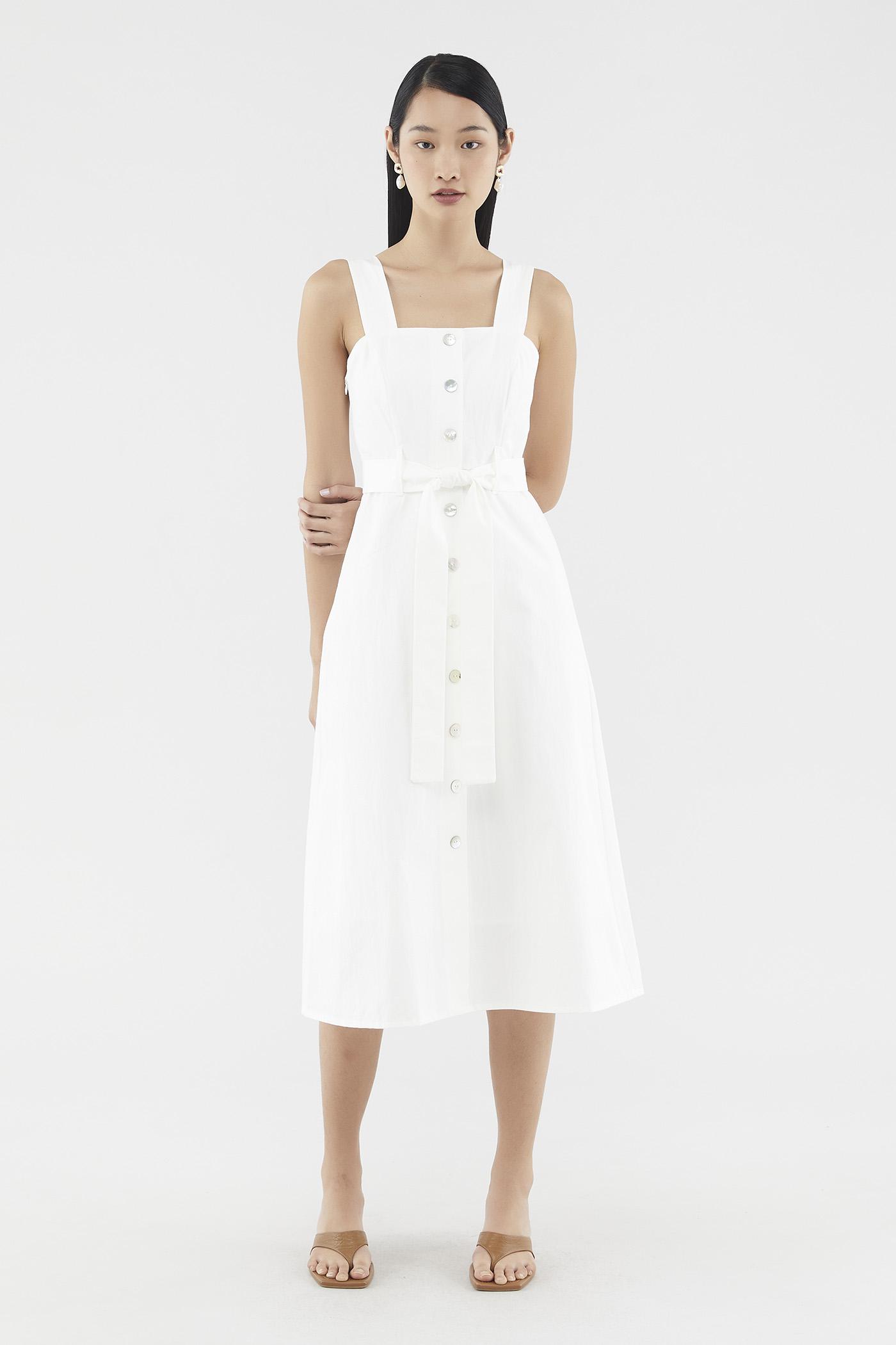 Amina Square-neck Dress