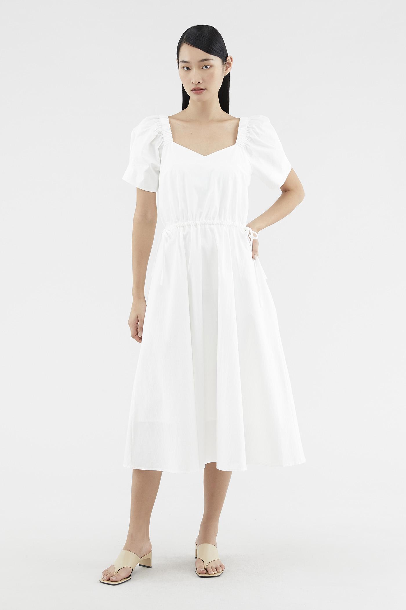 Sharene Puff-sleeve Dress