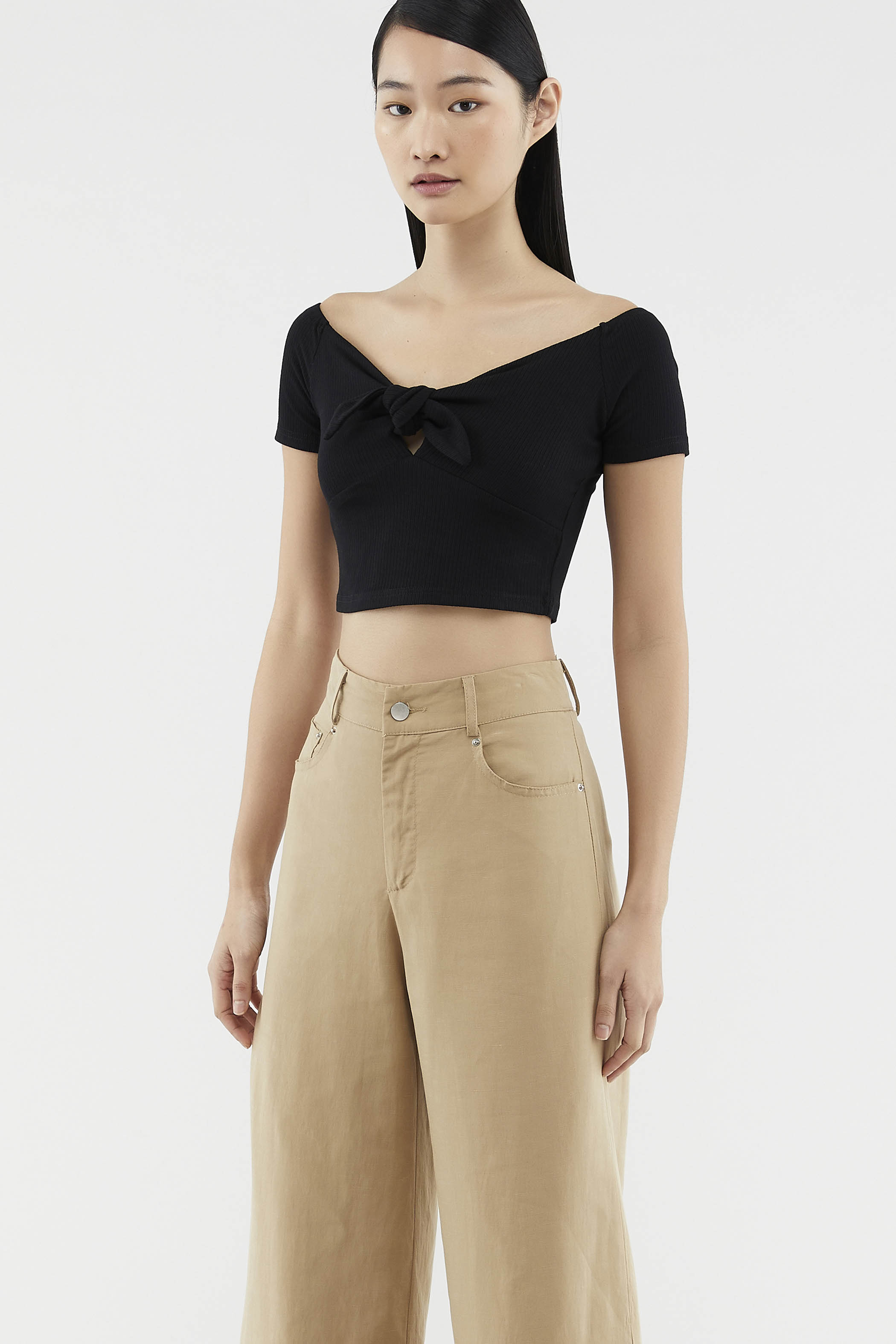 Cordelia Knotted Crop Top