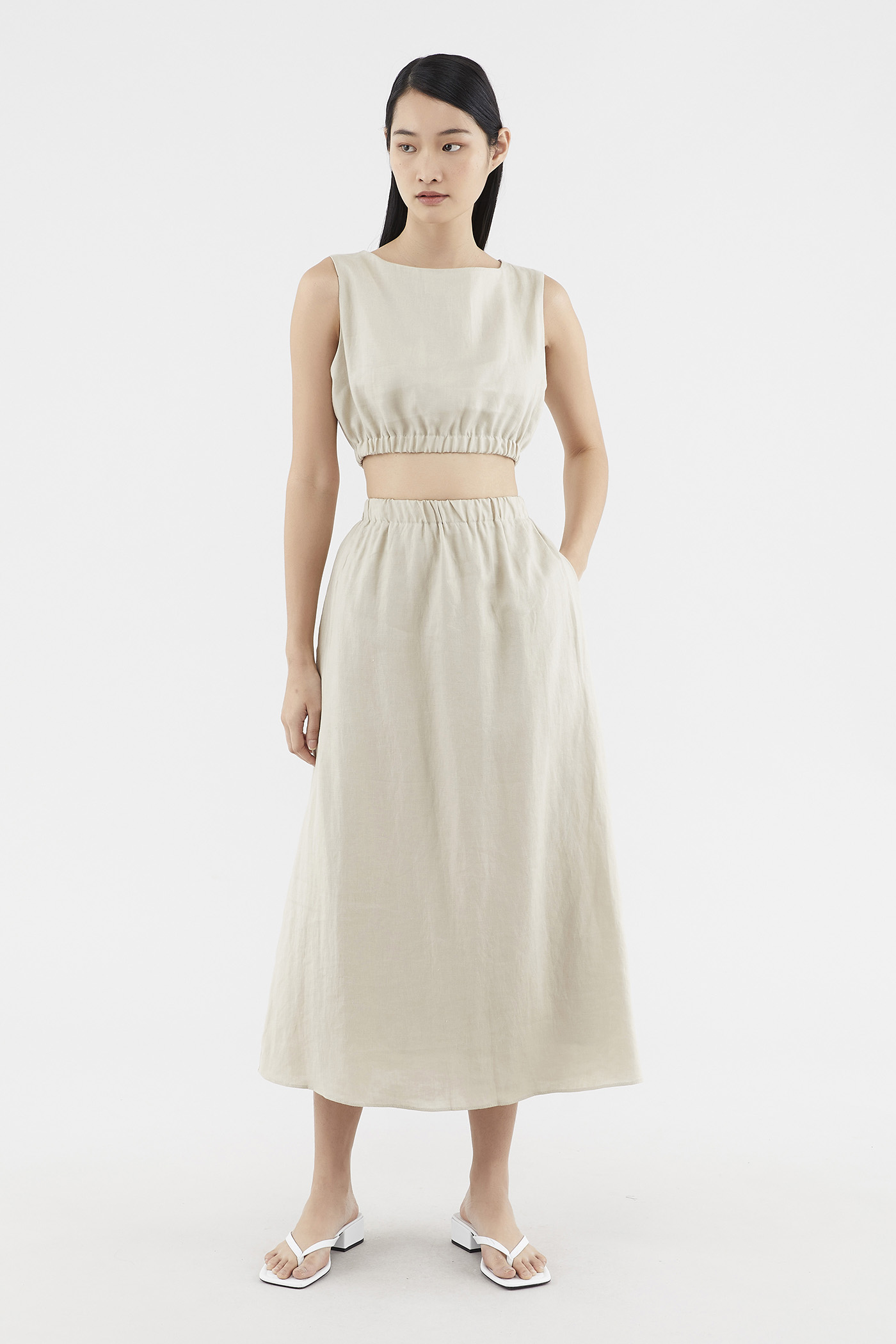 Tylee Linen Maxi Skirt