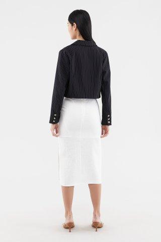 Fedila Pinstripe Crop Blazer