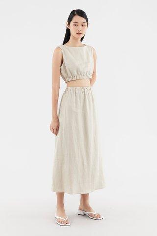 Neela Linen Crop Top