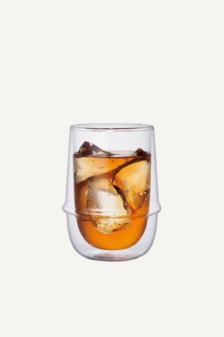 Kinto Kronos Double Wall Iced Tea Glass