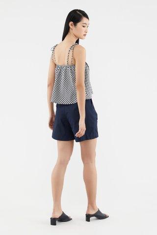 Becki Plaid-print Top
