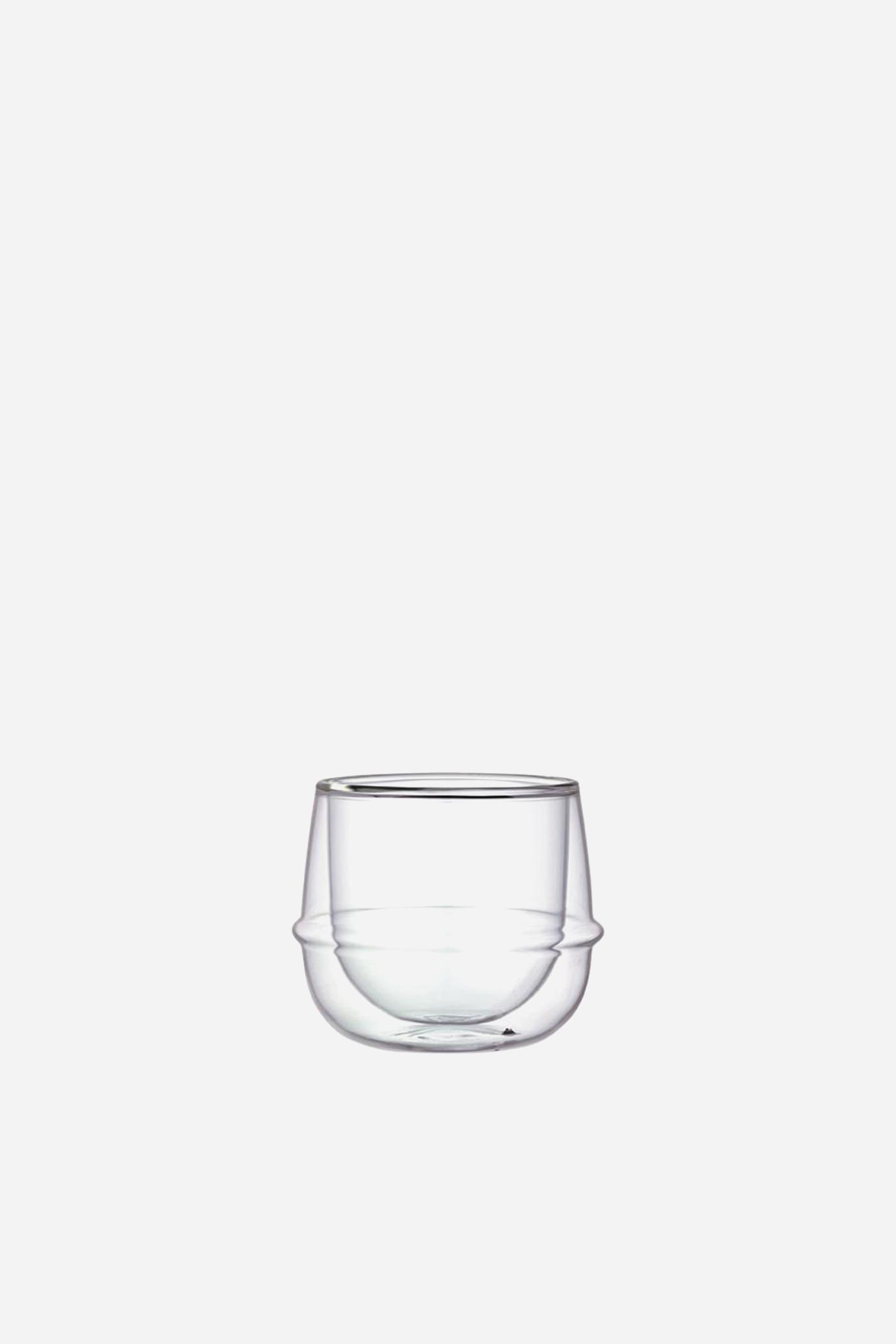 Kinto Kronos Double Wall Wine Glass