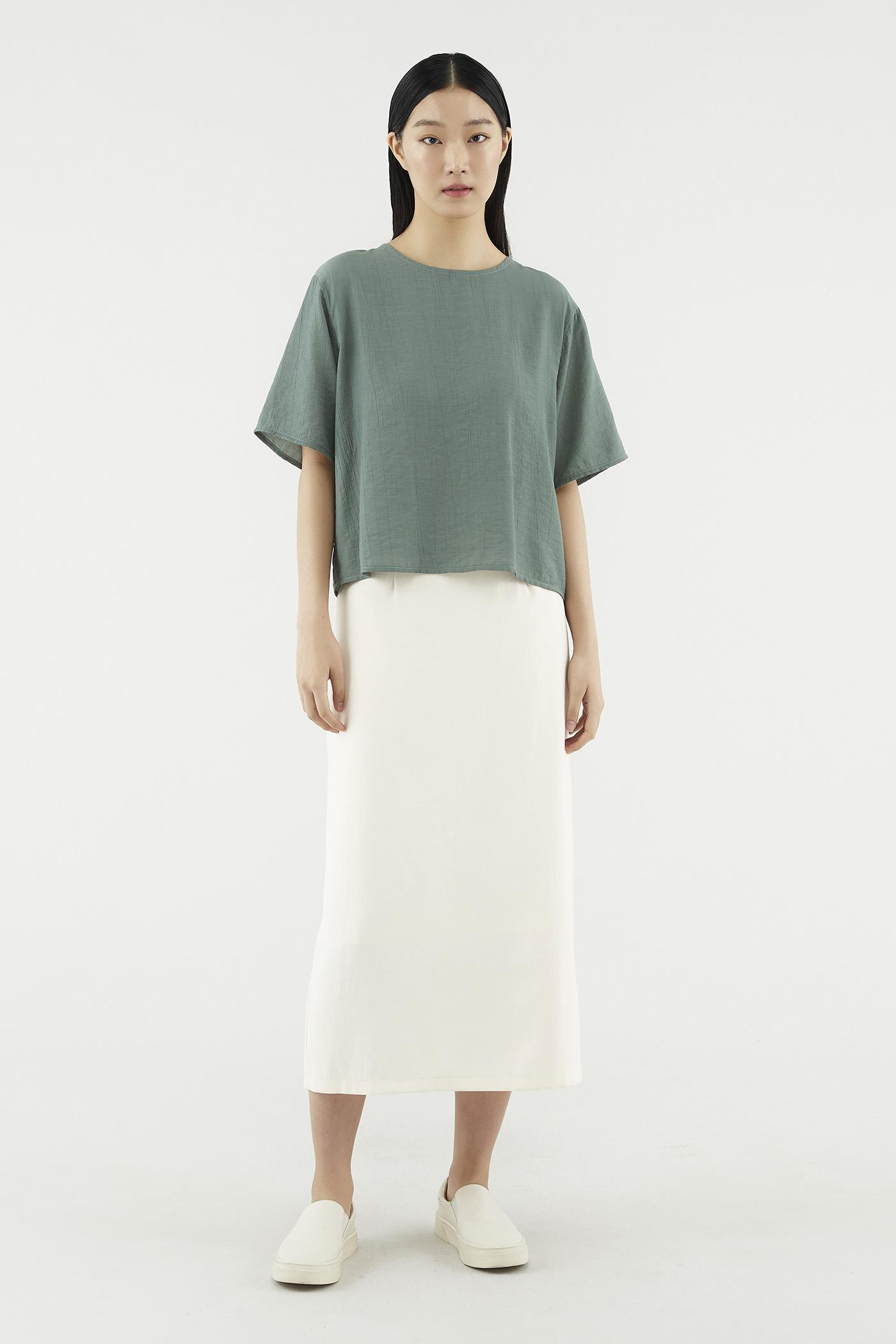 Nealla Cross-drape Blouse