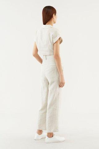 Torya Linen Crop Shirt