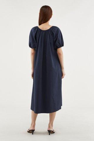 Alyza Puff-sleeve Tent Dress