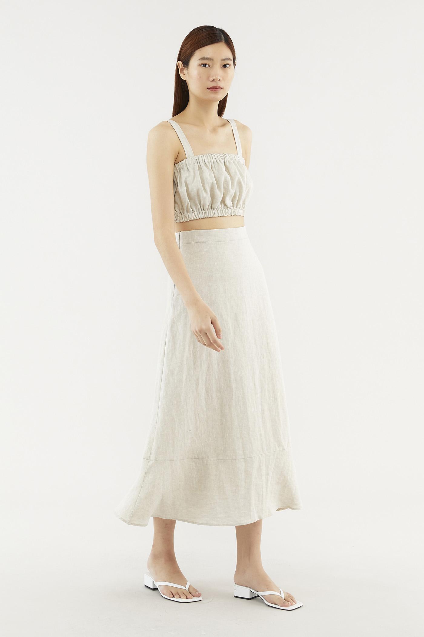 Heddi Linen Midi Skirt