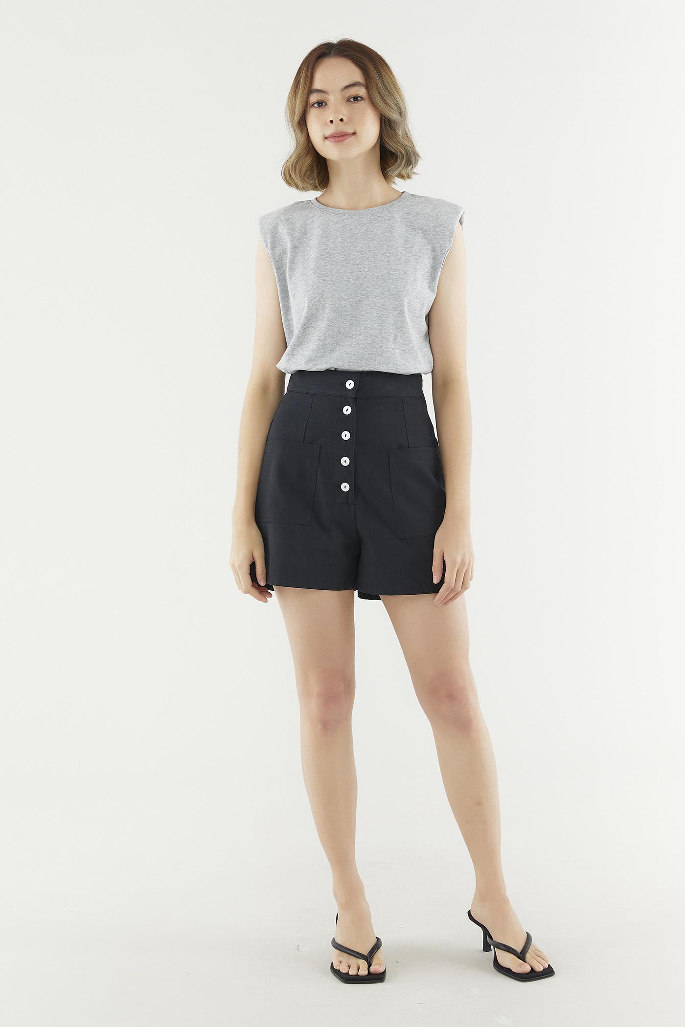 Brisha Button Shorts