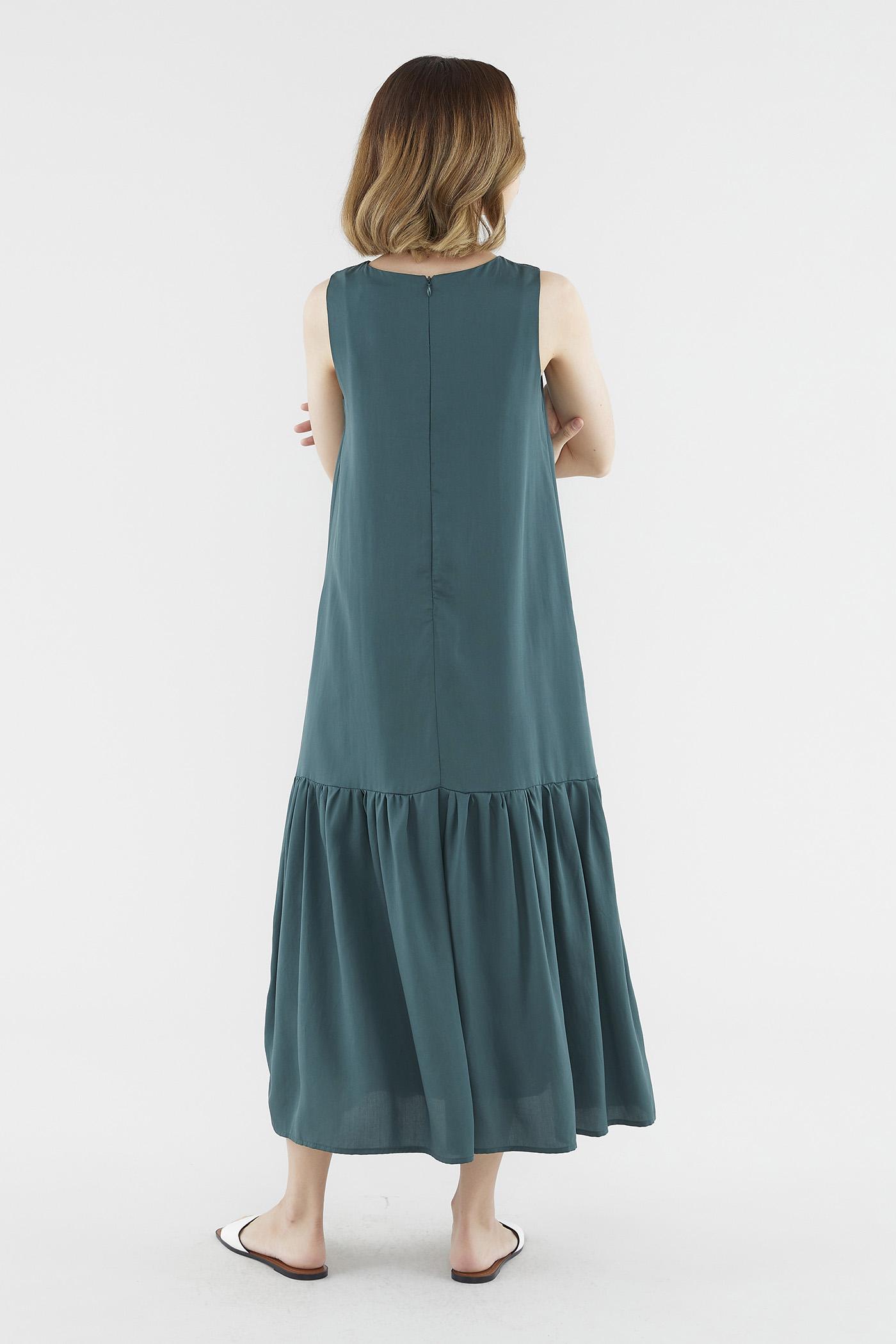 Norvell Wave-hem Dress