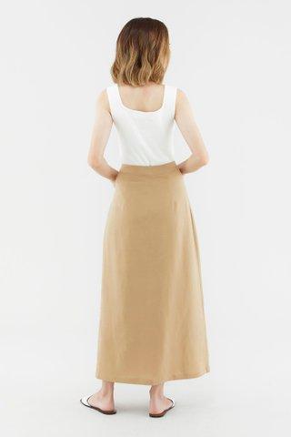 Fayetta Button-Front Midi Skirt
