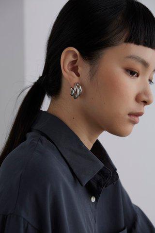 Violet Hoop Earrings